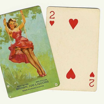 pin-up playing cards - Posters and Prints