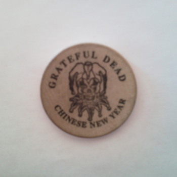 Grateful Dead Chinese New Year Wood Coin from 1994