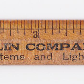 """6"""" Ruler Bacon-Taplin company Springfield Ma"""