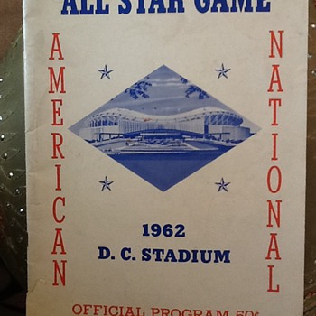 1962 All Star Game Program American League v. National League - Baseball