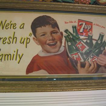 Cardboard 7UP Sign