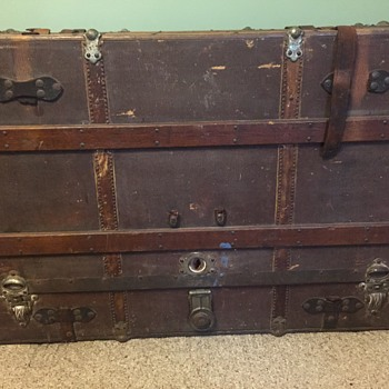 Antique Steamer Trunk - Furniture