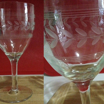 Looking for info on etched wine glasses