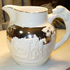 Wedgwood silver resist hunting pitcher.