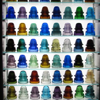 Insulator Finale: backlit display of entire collection