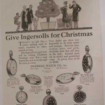 Christmas Shopping 90 Years Ago - Advertising