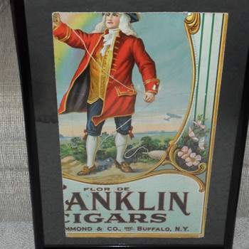 Franklin Cigars Cardboard Ad. - Signs