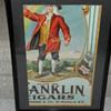 Franklin Cigars Cardboard Ad.