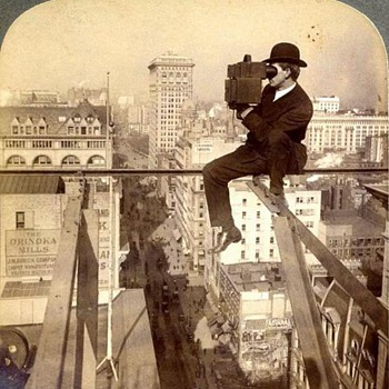 Photographers & Their Cameras - Iconic 1905 Stereoview - Photographs