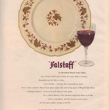 1950 Royal York China Advertisement