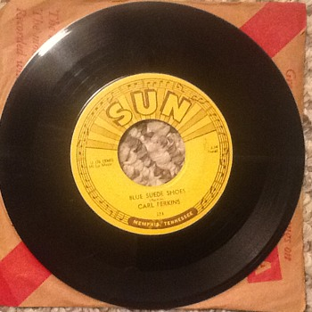 "Carl Perkins 1954 Sun Label Song""Blue Suede Shoes"". - Records"