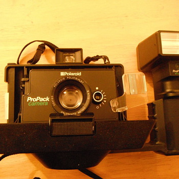 Late 1970's Polaroid ProPack camera with flash - Cameras