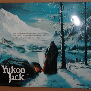 A FRIENDS METAL  SIGHN OF  YUKON JACK 1978