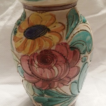 "FLORAL VASE "" NEED HELP ID"" Thank You!"