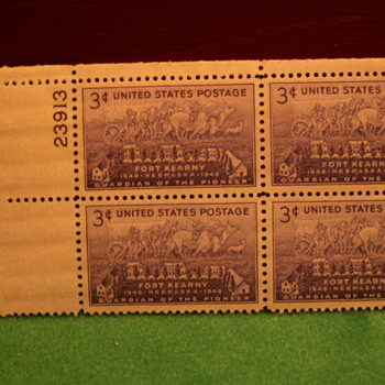 1948 Fort Kearny 3¢ Stamps