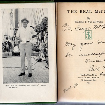 The Real McCoy,  Bill McCoy signed copy.