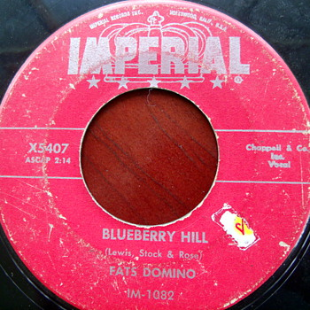 1956 Fats Domino Blueberry Hill 45rpm