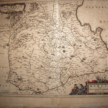 "MAP ""The Merce or Shirrefdome of Berwick"", Timothy Pont,, Circa 1654"