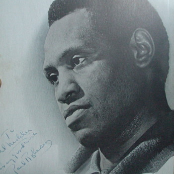 Paul Robeson autograph
