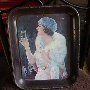 old coca cola tray