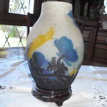 Muller Freres, Luneville  Cameo Vase - Art Nouveau