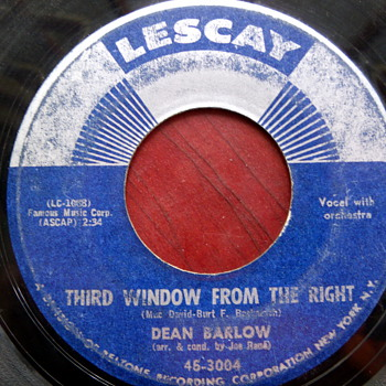 "1st edition Dean Barlow ""Third Window from the Right"" 45rpm  - Records"