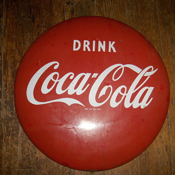 Coca-cola button sign - Advertising