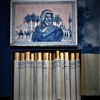 Antique Egyptian Cigarette Tin With Original Custom Cigarettes For 1920s Film Star Hope Hampton