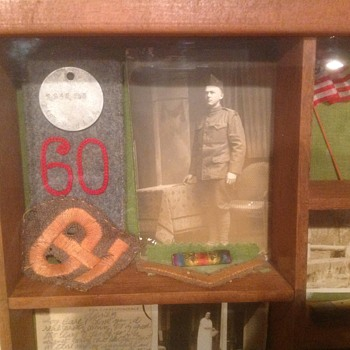Shadow Box of Grandfather's WW1 experiences - Military and Wartime
