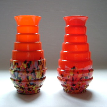 Czech Art Deco Vases