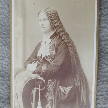 LONG Hair on Wisconsin Woman cdv
