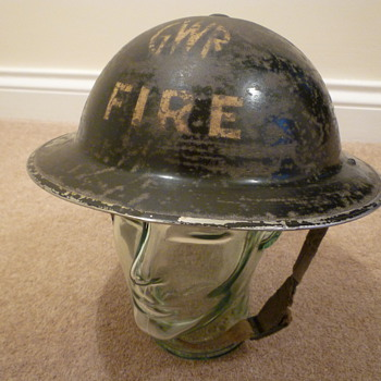 British WW11 Firemans helmet. - Military and Wartime