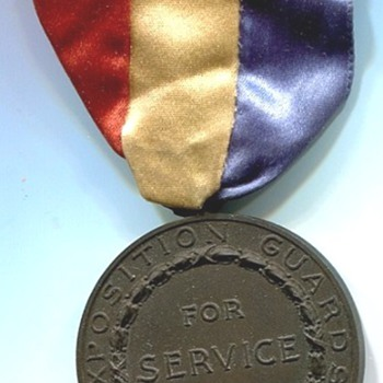 Panama Pacific International Exposition Guards Service Medal 1915 - Medals Pins and Badges