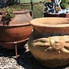 A couple of older terracotta pots