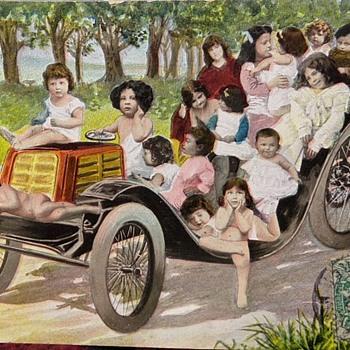 1907 Children/Car Card - Postcards
