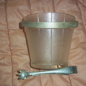 Ice Bucket and holder belonging to best friend's Great Uncle - Glassware