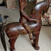 VINTAGE PRIMITIVE ETHNIC WOOD HORSE FIGURE South American OR Eastern maybe?