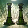 Dark green candlesticks