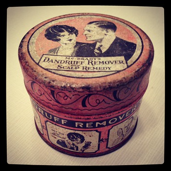 Vintage McBrady's Dandruff Remover Tin (circa 1920s) - Advertising