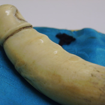 "ADULT CONTENT!! ANTIQUE JAPANESE ""PHALLUS"", ORIGIN UNKNOWN, Carved Bone - Asian"
