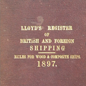 Loyds Register of Shipping 1897 - Books