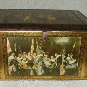 Antique Biscuit Tin - 2 - Advertising
