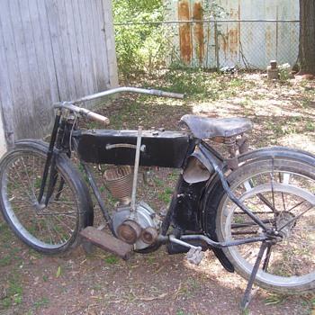Circa 1910's Harley Davidson Motorbike