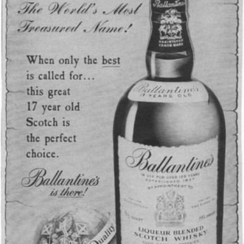 1955 Ballentine Scotch Advertisement