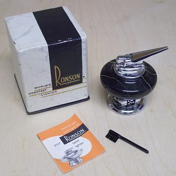 Ronson table lighter 1956