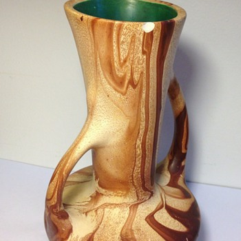 Drip Swirl Vase -any help with ID? - Art Pottery