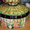 Tiffany style haning lamp post World War ll
