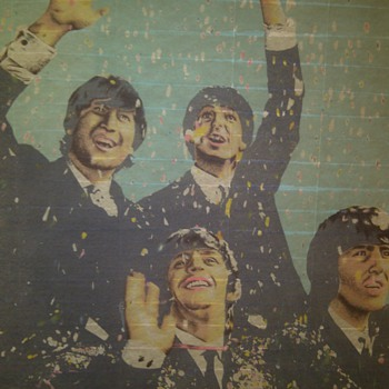 "Rare Beatles ""London 1964"" wall banner"