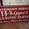 Double Sided Authorized Service Whippet Willys-Overaland Sign
