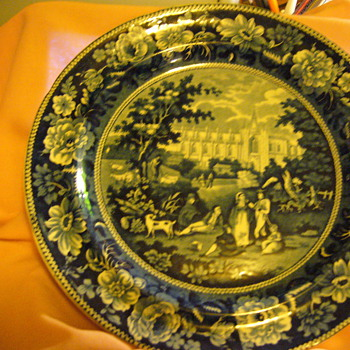Staffordshire plate - Art Pottery